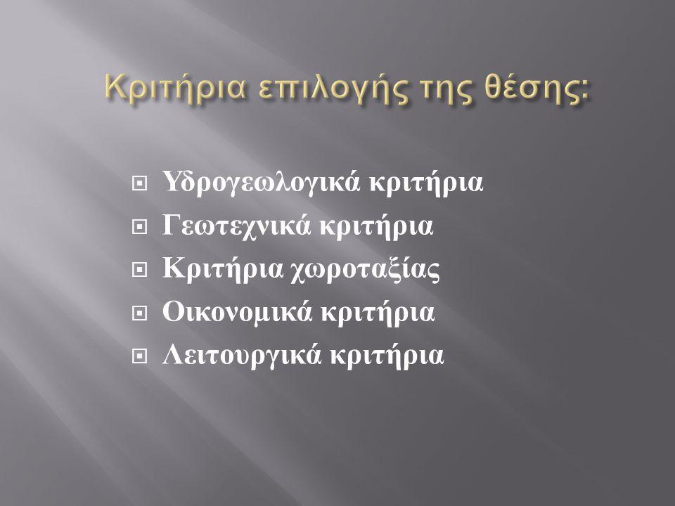 Κριτήρια επιλογής της θέσης:
