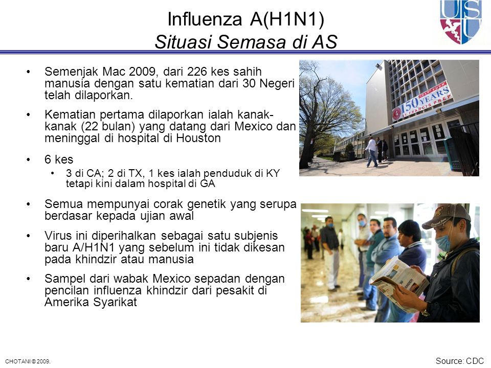 Influenza A(H1N1) Situasi Semasa di AS