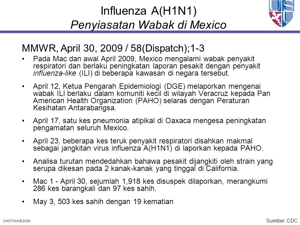 Influenza A(H1N1) Penyiasatan Wabak di Mexico
