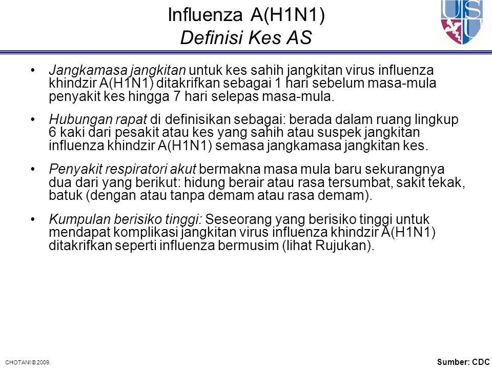 Influenza A(H1N1) Definisi Kes AS