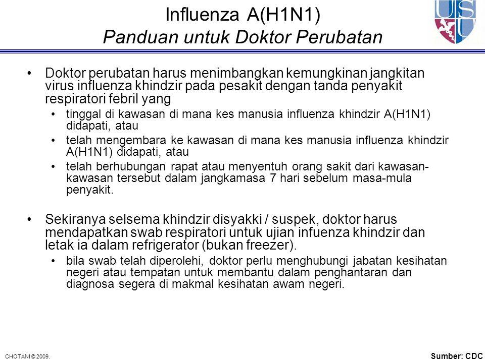 Influenza A(H1N1) Panduan untuk Doktor Perubatan