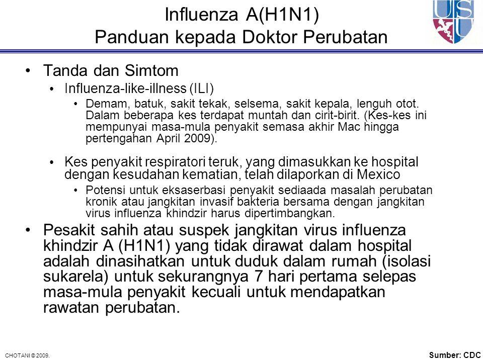 Influenza A(H1N1) Panduan kepada Doktor Perubatan