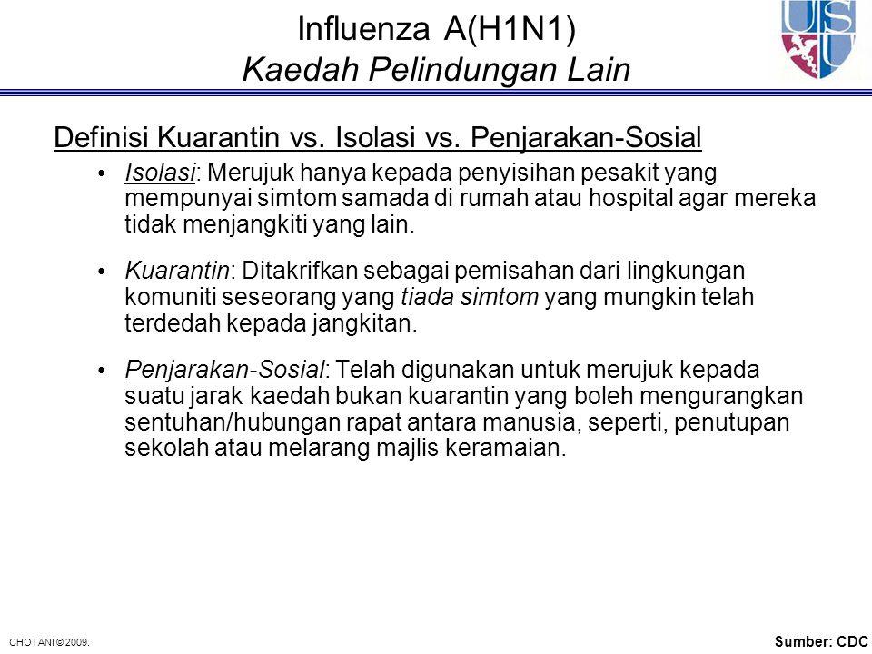 Influenza A(H1N1) Kaedah Pelindungan Lain