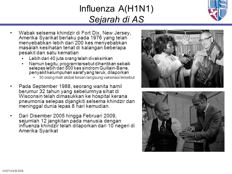 Influenza A(H1N1) Sejarah di AS