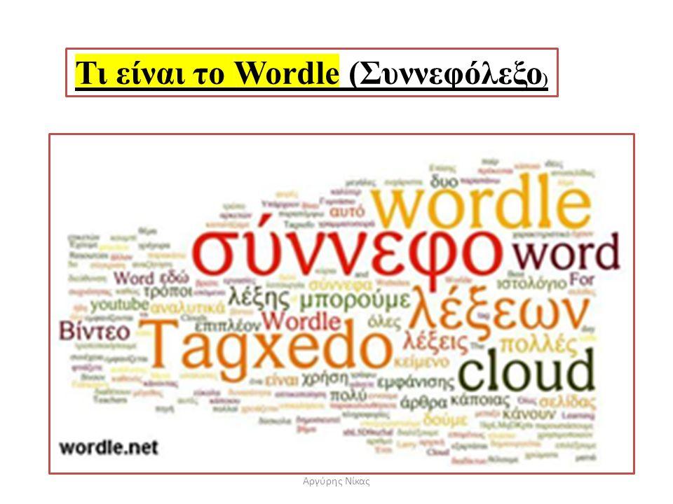 Τι είναι το Wordle (Συννεφόλεξο)