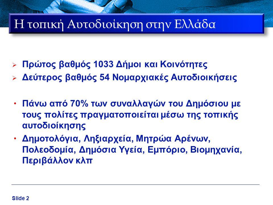 Η τοπική Αυτοδιοίκηση στην Ελλάδα