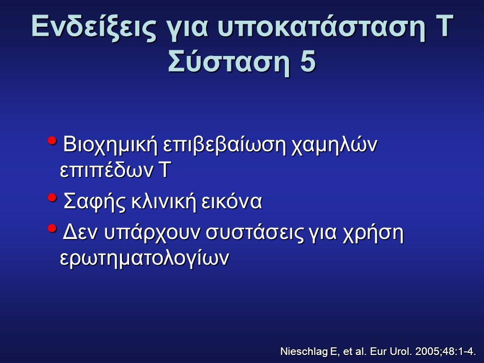 Ενδείξεις για υποκατάσταση T Σύσταση 5