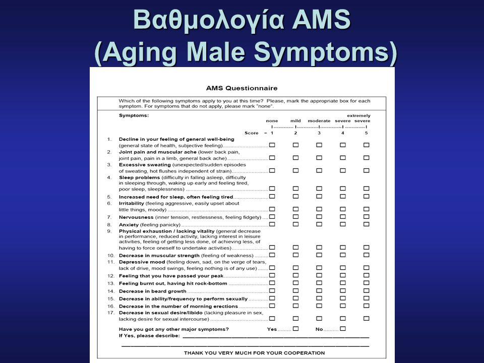 Bαθμολογία AMS (Aging Male Symptoms)