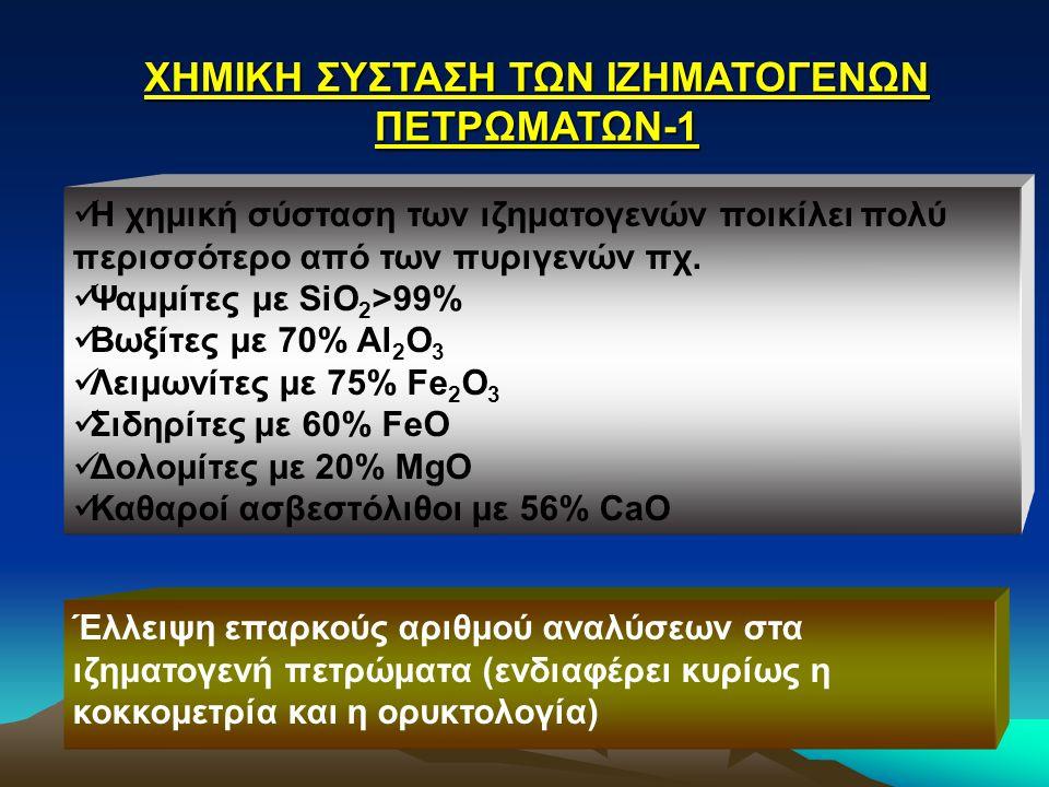 ΧΗΜΙΚΗ ΣΥΣΤΑΣΗ ΤΩΝ ΙΖΗΜΑΤΟΓΕΝΩΝ ΠΕΤΡΩΜΑΤΩΝ-1