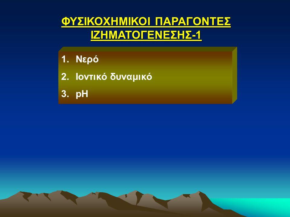 ΦΥΣΙΚΟΧΗΜΙΚΟΙ ΠΑΡΑΓΟΝΤΕΣ ΙΖΗΜΑΤΟΓΕΝΕΣΗΣ-1