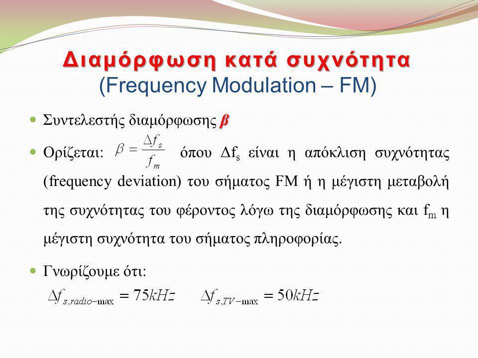 Διαμόρφωση κατά συχνότητα (Frequency Modulation – FM)