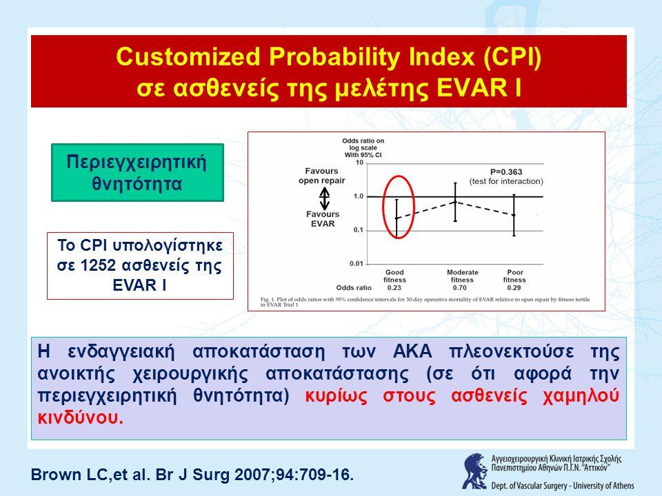 Customized Probability Index (CPI) σε ασθενείς της μελέτης EVAR I