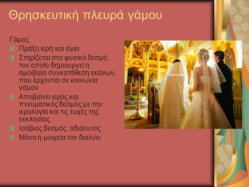 Θρησκευτική πλευρά γάμου