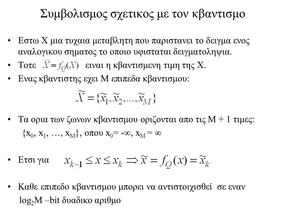 Συμβολισμος σχετικος με τον κβαντισμο