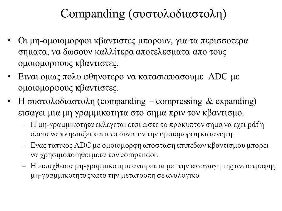 Companding (συστολοδιαστολη)