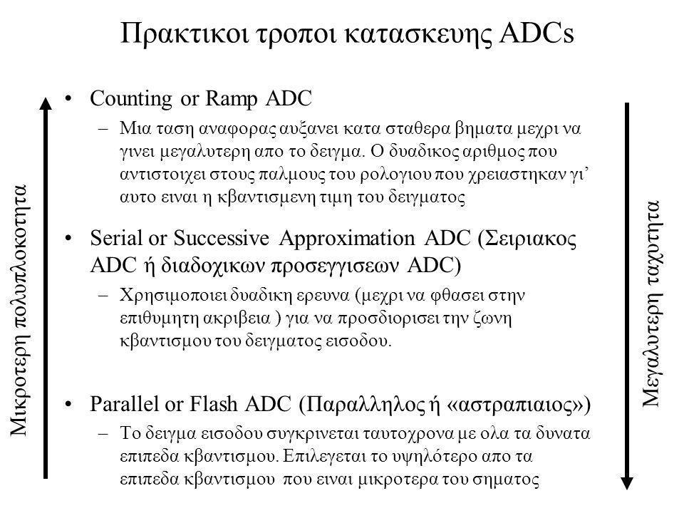 Πρακτικοι τροποι κατασκευης ADCs