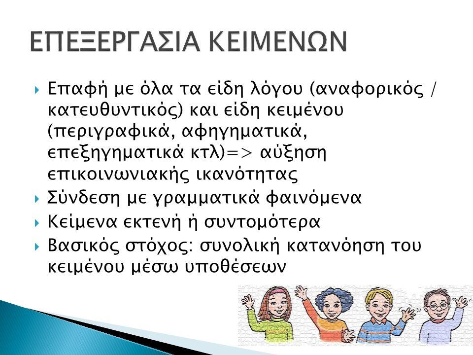 ΕΠΕΞΕΡΓΑΣΙΑ ΚΕΙΜΕΝΩΝ