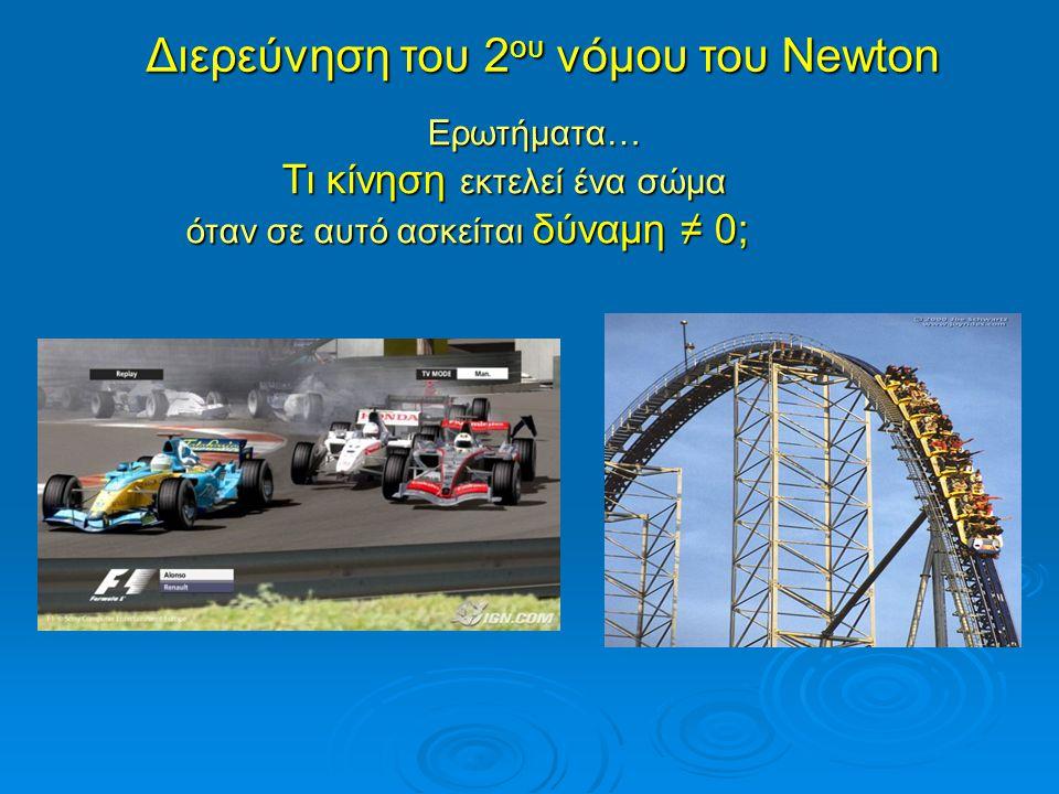 Διερεύνηση του 2ου νόμου του Newton