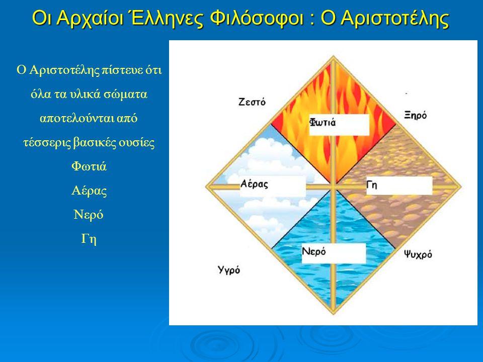 Οι Αρχαίοι Έλληνες Φιλόσοφοι : Ο Αριστοτέλης