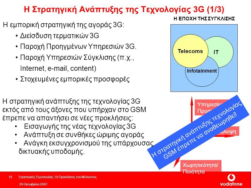 Η Στρατηγική Ανάπτυξης της Τεχνολογίας 3G (1/3)