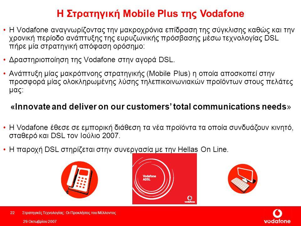 Η Στρατηγική Mobile Plus της Vodafone