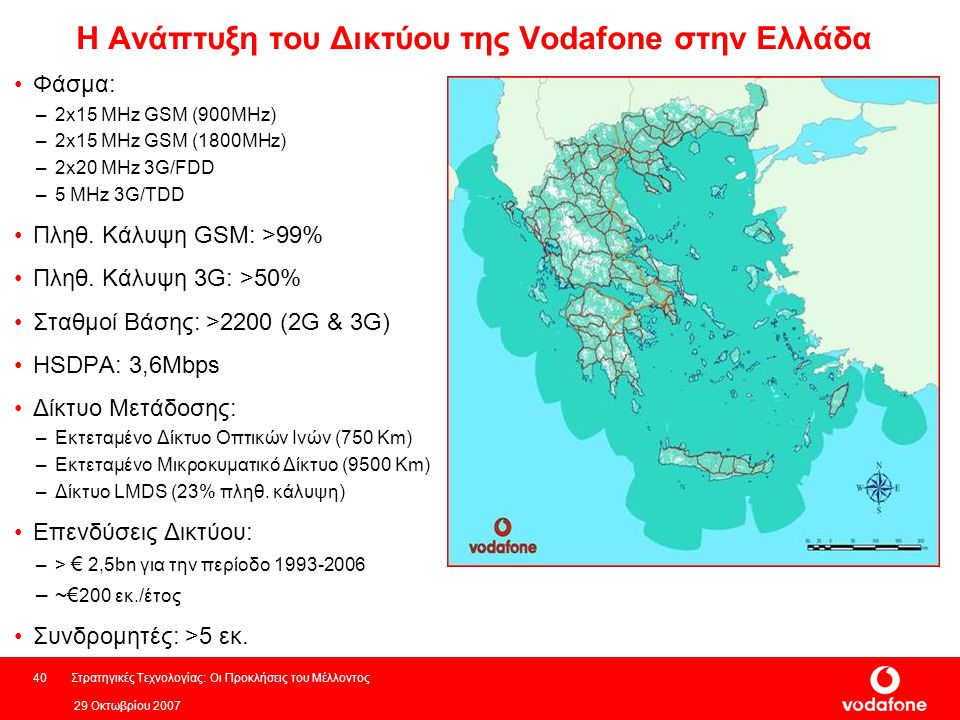 Η Ανάπτυξη του Δικτύου της Vodafone στην Ελλάδα