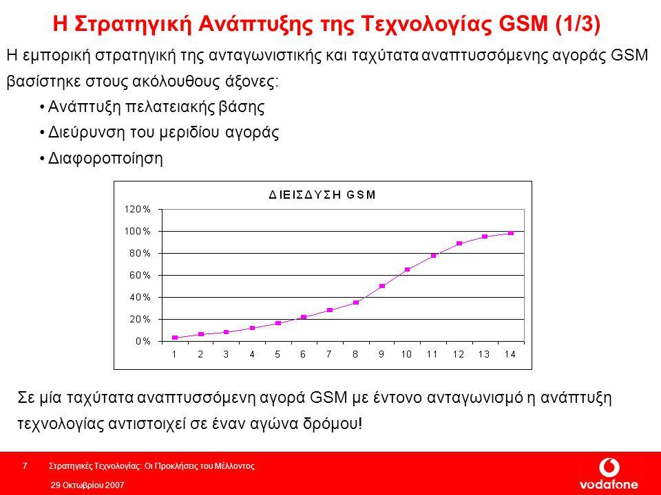 Η Στρατηγική Ανάπτυξης της Τεχνολογίας GSM (1/3)