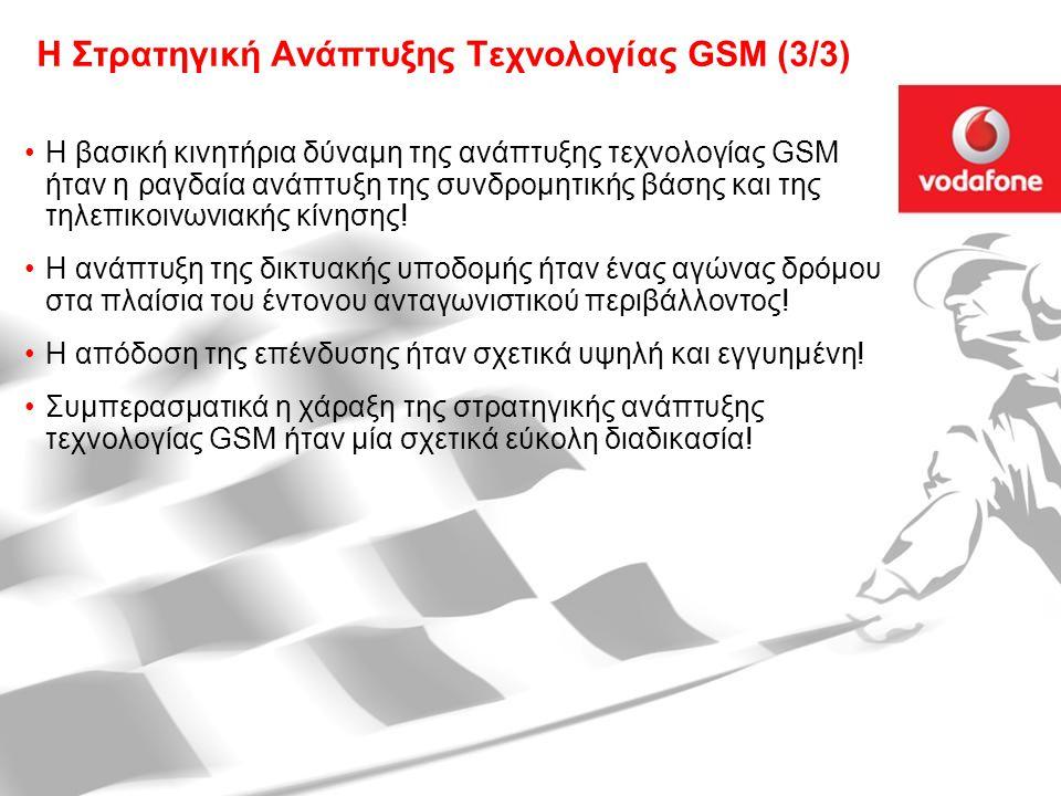 Η Στρατηγική Ανάπτυξης Τεχνολογίας GSM (3/3)