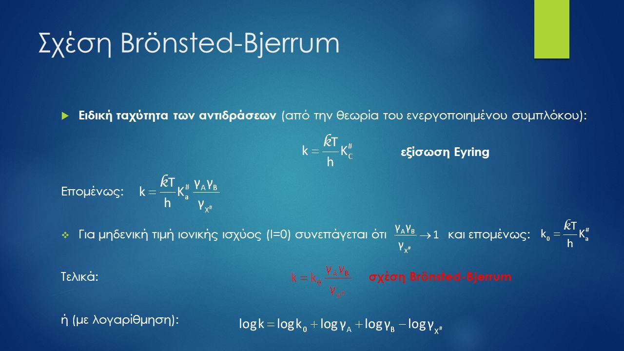 Σχέση Brönsted-Bjerrum