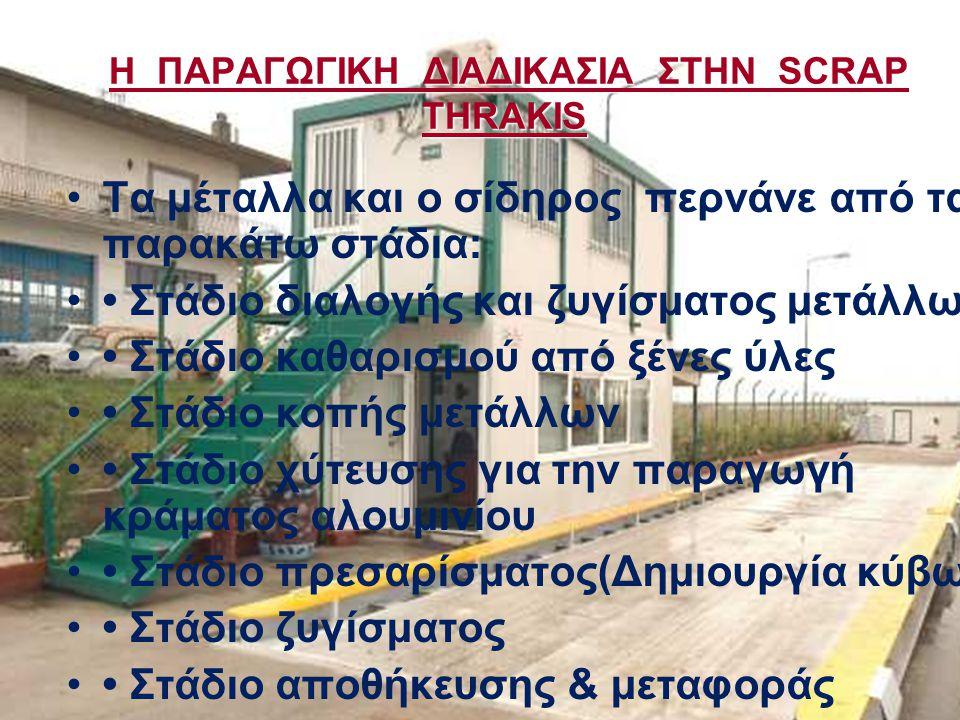 Η ΠΑΡΑΓΩΓΙΚΗ ΔΙΑΔΙΚΑΣΙΑ ΣΤΗΝ SCRAP THRAKIS