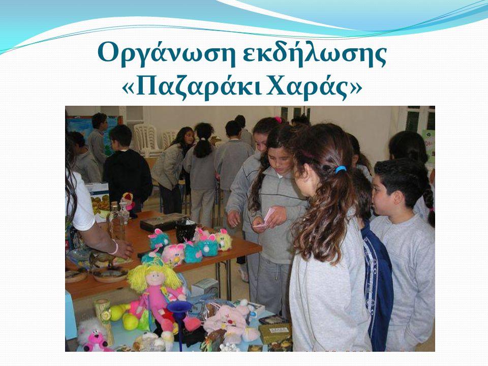 Οργάνωση εκδήλωσης «Παζαράκι Χαράς»