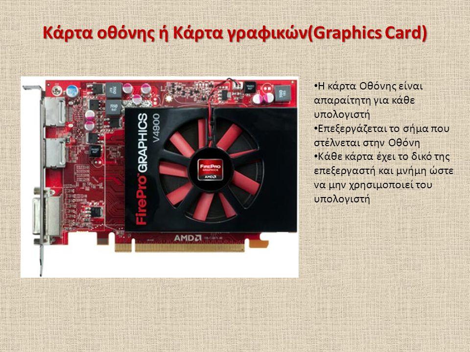 Κάρτα οθόνης ή Κάρτα γραφικών(Graphics Card)
