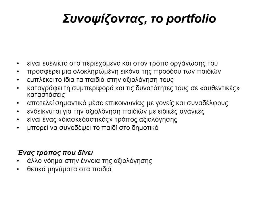 Συνοψίζοντας, το portfolio