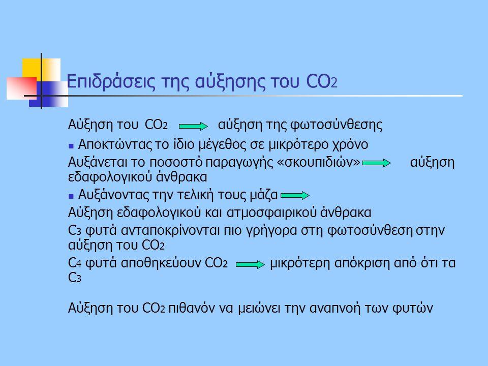 Επιδράσεις της αύξησης του CO2