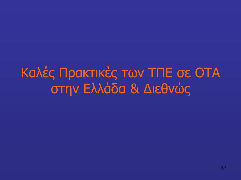 Καλές Πρακτικές των ΤΠΕ σε ΟΤΑ στην Ελλάδα & Διεθνώς