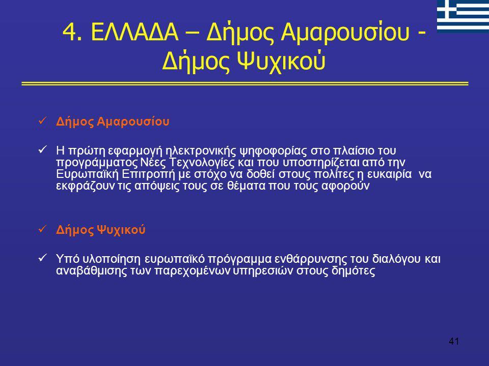 4. ΕΛΛΑΔΑ – Δήμος Αμαρουσίου -Δήμος Ψυχικού