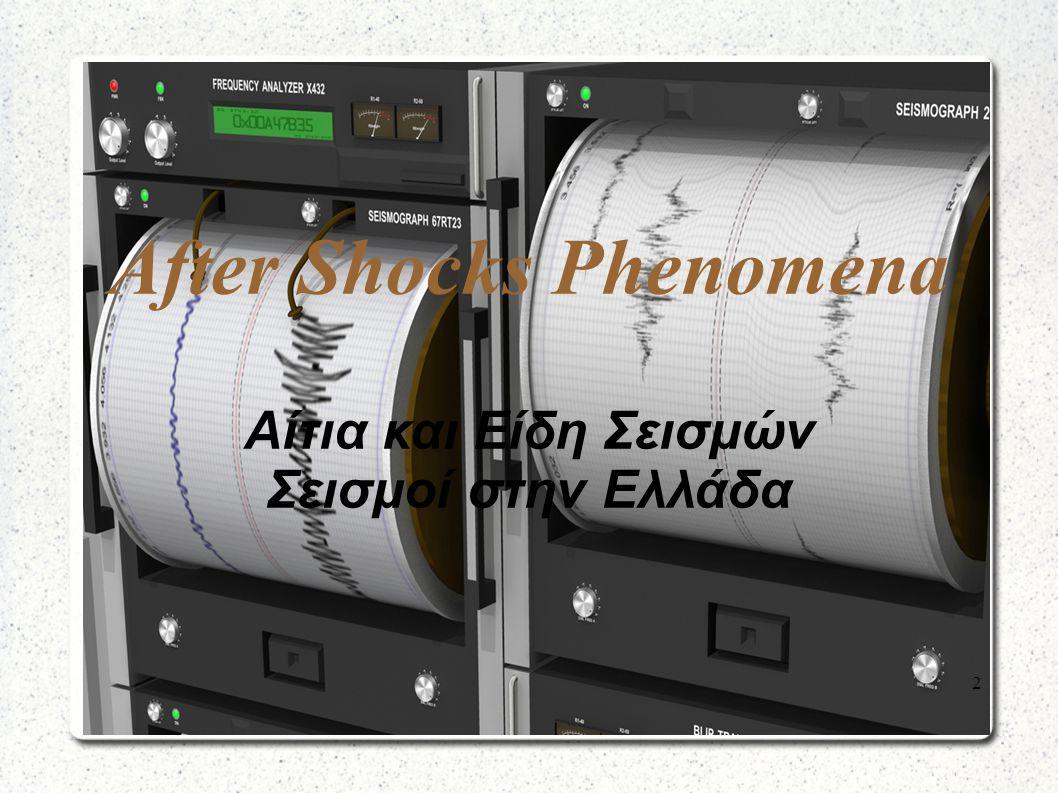 After Shocks Phenomena