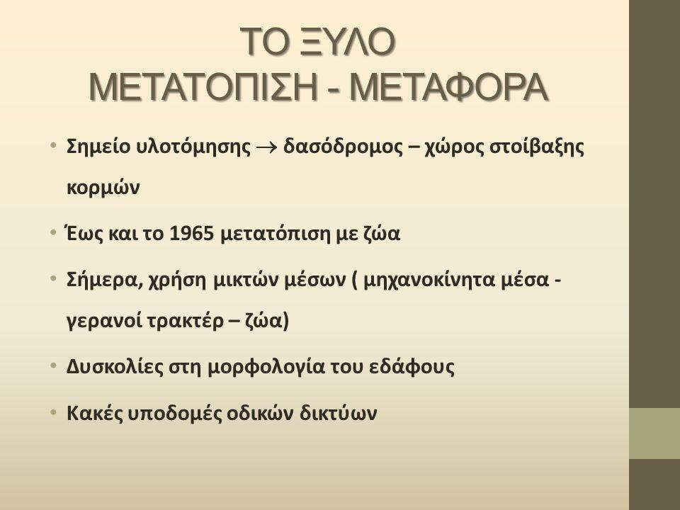 ΤΟ ΞΥΛΟ ΜΕΤΑΤΟΠΙΣΗ - ΜΕΤΑΦΟΡΑ