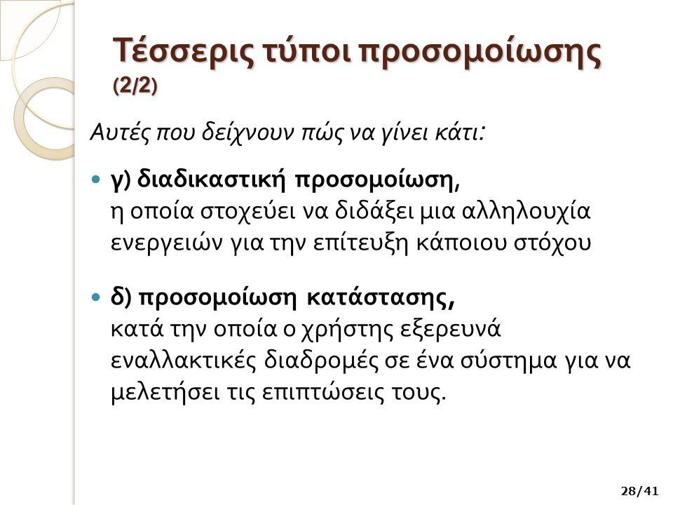Τέσσερις τύποι προσομοίωσης (2/2)