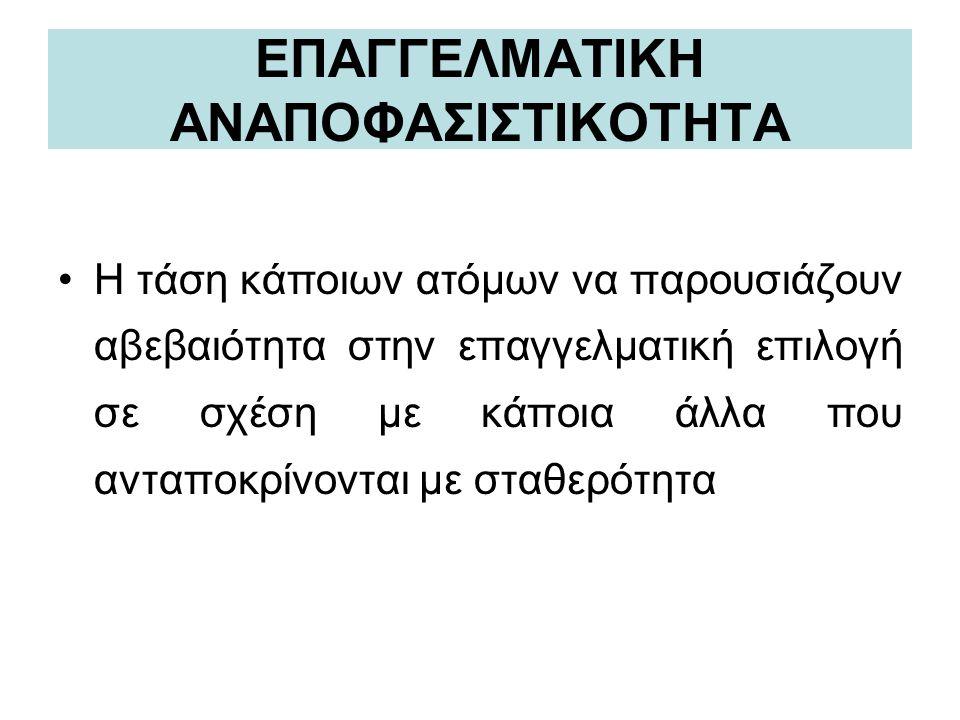 ΕΠΑΓΓΕΛΜΑΤΙΚΗ ΑΝΑΠΟΦΑΣΙΣΤΙΚΟΤΗΤΑ