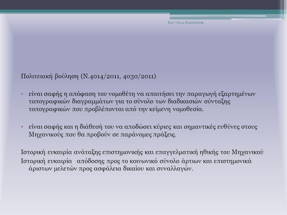 Πολιτειακή βούληση (Ν.4014/2011, 4030/2011)