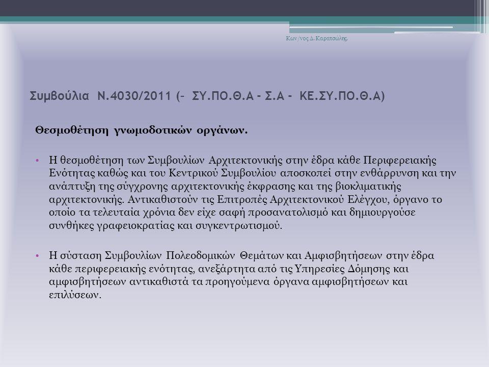 Συμβούλια Ν.4030/2011 (– ΣΥ.ΠΟ.Θ.Α - Σ.Α - ΚΕ.ΣΥ.ΠΟ.Θ.Α)
