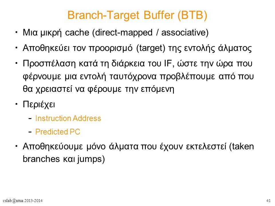 Branch-Target Buffer (BTB)
