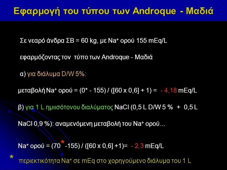 Εφαρμογή του τύπου των Androque - Μαδιά