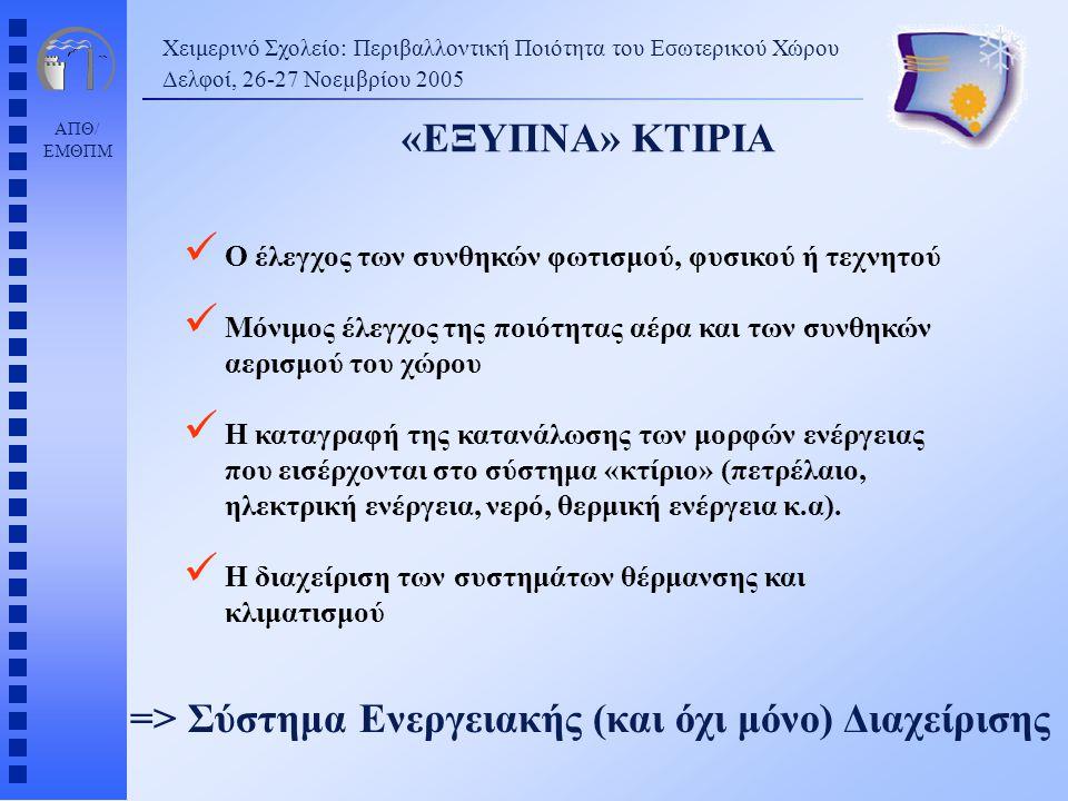 => Σύστημα Ενεργειακής (και όχι μόνο) Διαχείρισης
