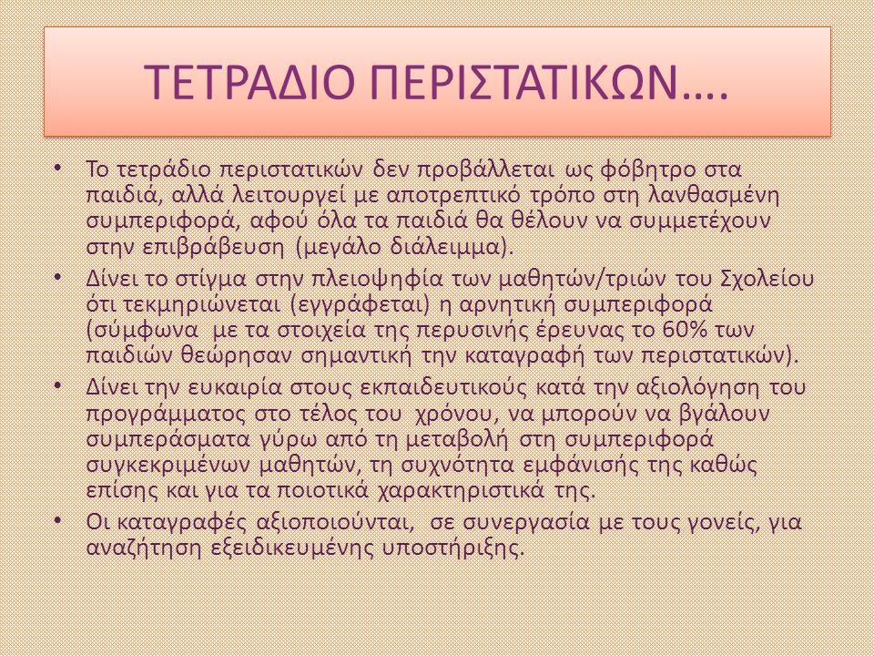 ΤΕΤΡΑΔΙΟ ΠΕΡΙΣΤΑΤΙΚΩΝ….