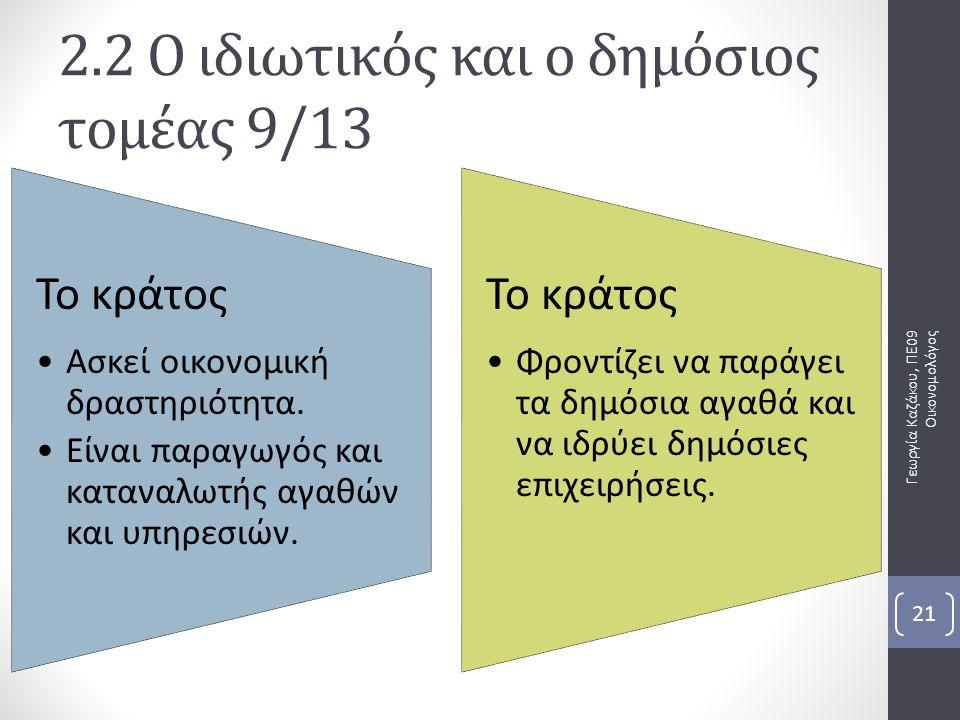 2.2 Ο ιδιωτικός και ο δημόσιος τομέας 9/13
