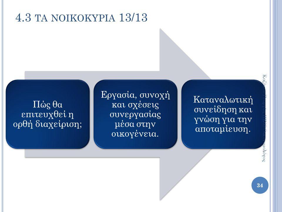 4.3 τα νοικοκυρια 13/13 Καζάκου Γεωργία, ΠΕ09 Οικονομολόγος