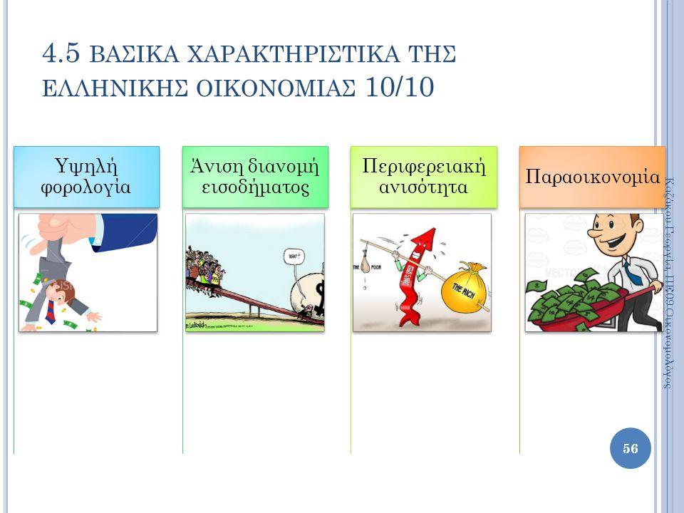 4.5 βασικα χαρακτηριστικα της ελληνικησ οικονομιασ 10/10