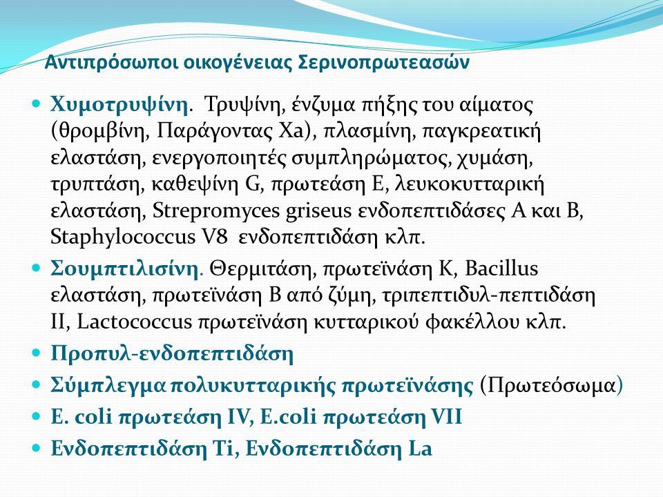 Αντιπρόσωποι οικογένειας Σερινοπρωτεασών